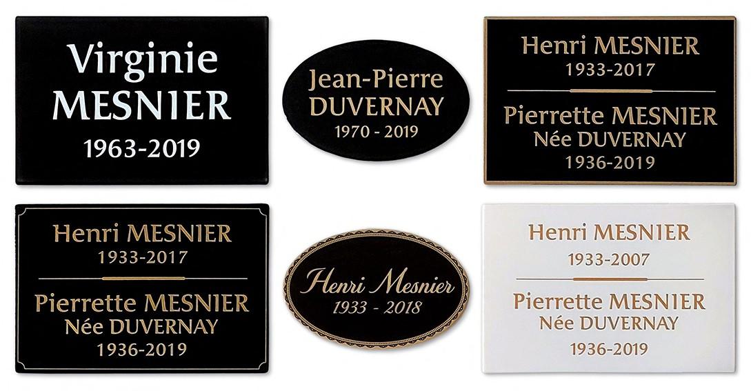 Plaque d'identification funéraire Westmemor