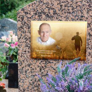 plaque funéraire personnalisés montage photo